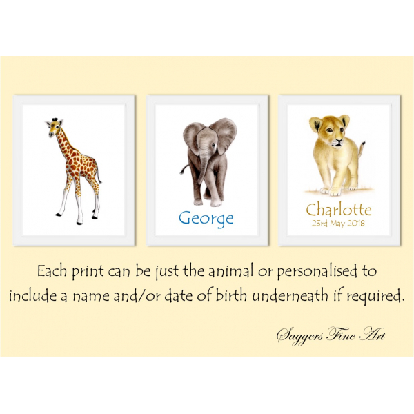Personalised or Plain prints available