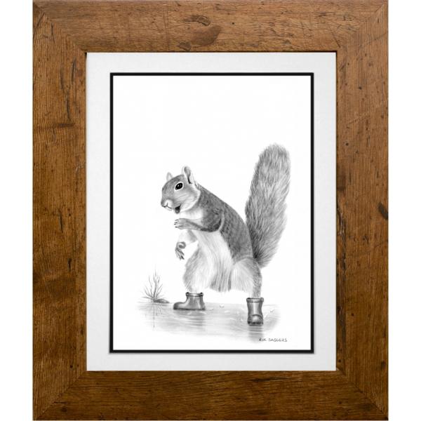 Freddie the Squirrel - Ipswich Artist