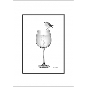 Elegant Robin greeting card