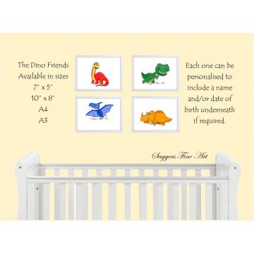 Set of 4 Dino Friends