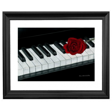 Pastel Piano Drawing by Rik Saggers