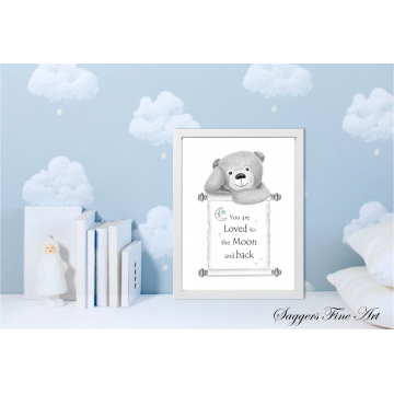 Teddy bear - Moon and back