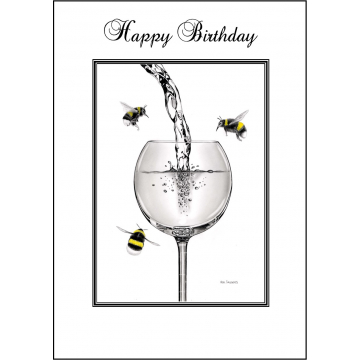 Bumble Bee Birthday card - Code 001