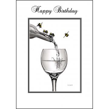 Bumble Bee Birthday card - Code 002