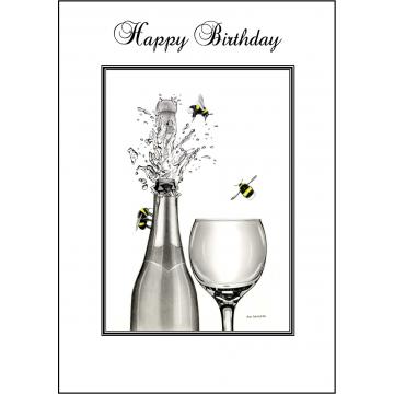 Bumble Bee Birthday card - Code 003