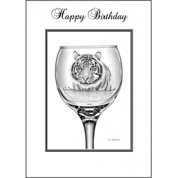 Tiger Birthday card - Code 004