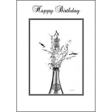 Penguin Birthday card - Code 005
