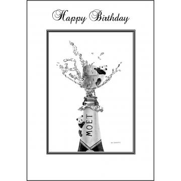 Panda Birthday card - Code 006