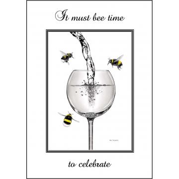 Bumble Bee Birthday card - Code 009