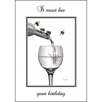 Bumble Bee Birthday card - Code 010