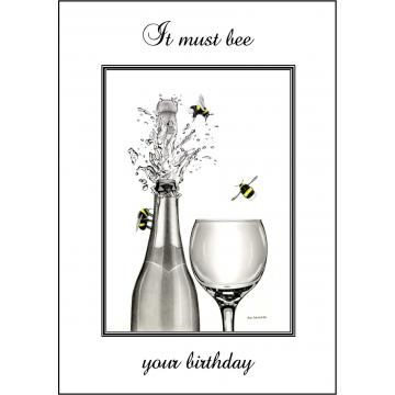Bumble Bee Birthday card - Code 011