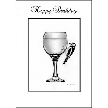 Woodpecker Birthday card - Code 012