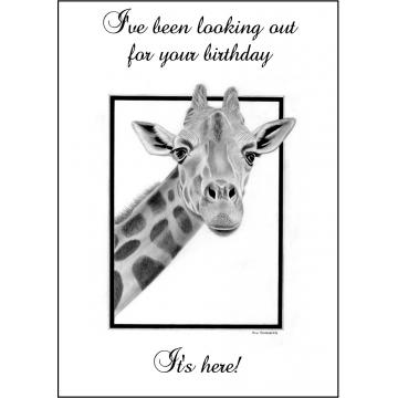 Funny Giraffe Birthday card - Code 014