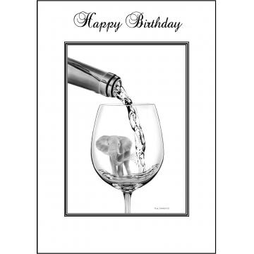 Elephant Birthday card - Code 015
