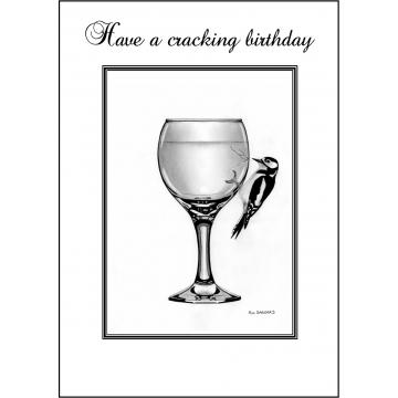 Woodpecker Birthday card - Code 018
