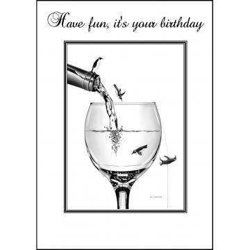 Playful Penguins birthday card - Code 023