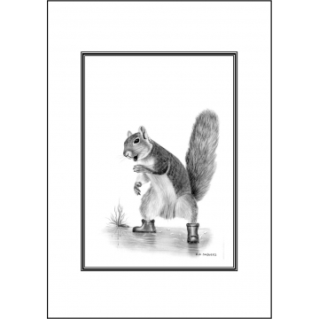 Funny squirrel general greeting card - Code 029