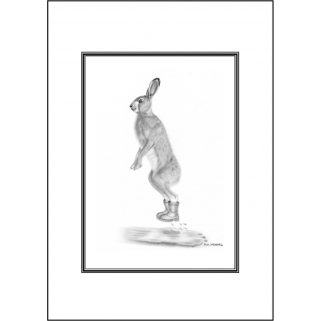 Funny hare general greeting card - Code 031