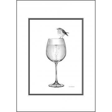 Elegant Robin general greeting card - Code 033
