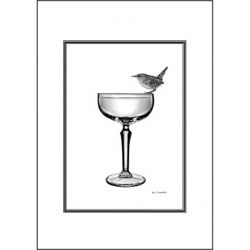 Elegant Wren general greeting card - Code 034