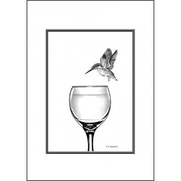 Elegant Kingfisher general greeting card - Code 036