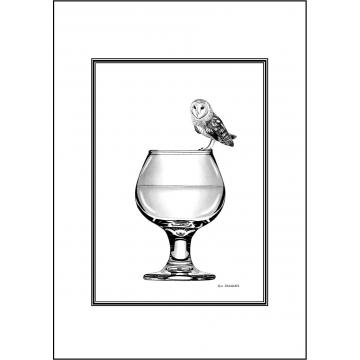 Elegant Owl general greeting card - Code 037