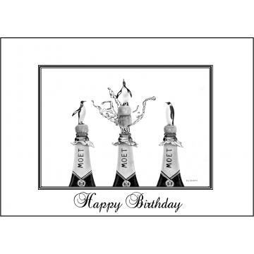 Elegant Penguin birthday card - Code 047