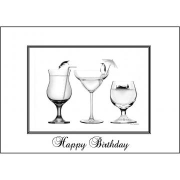 Elegant Penguin birthday card - Code 049