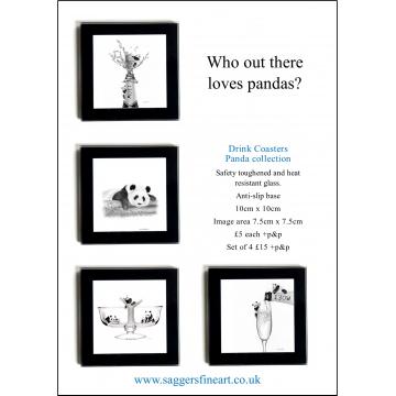 Panda Coaster Set