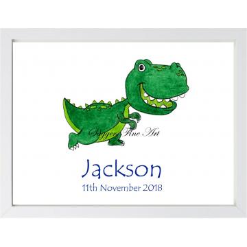 Personalised Dino Friend 2 Print