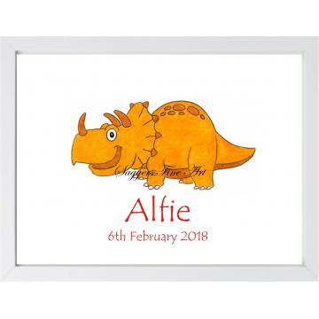 Personalised Dino Friend 4 Print