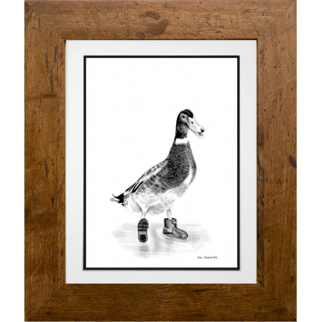 Muddy Puddles - Percy the Duck - A4 Print