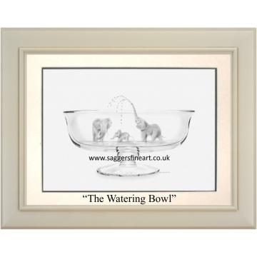 The Watering Bowl - Original Drawing - SOLD