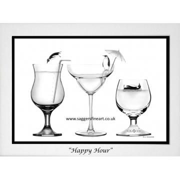 Happy Hour A5 print