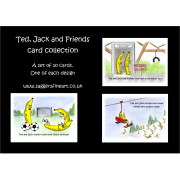 Set of 10 cards - One of each of the Jack, Ted & Friends Collection