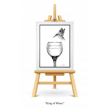 King of Wines - A4 Print