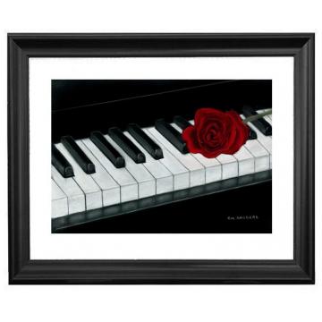 The Piano - Original Pastel Drawing