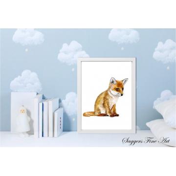 Fox cub Print