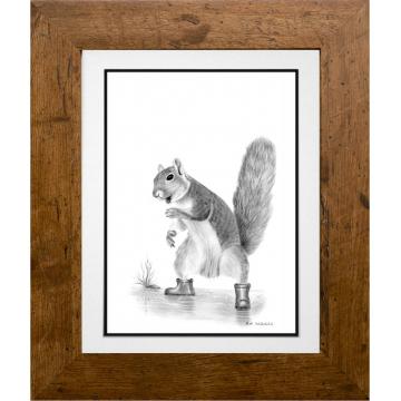 Muddy Puddles - Freddie the Squirrel - A4 Print