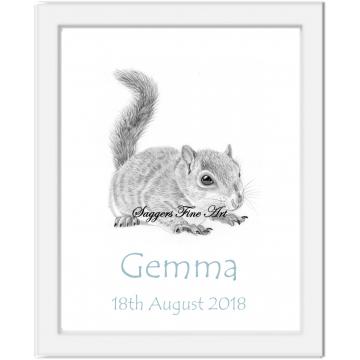 Personalised Squirrel Print