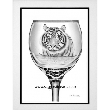 A Wine with a Bite - Original Drawing - Sold