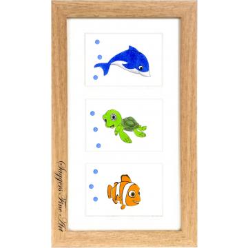 Triple Framed Nursery Sea Prints