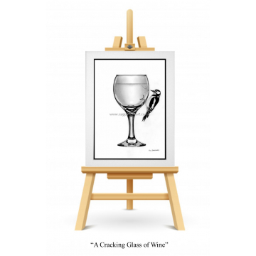 A Cracking Glass of Wine - Original Drawing